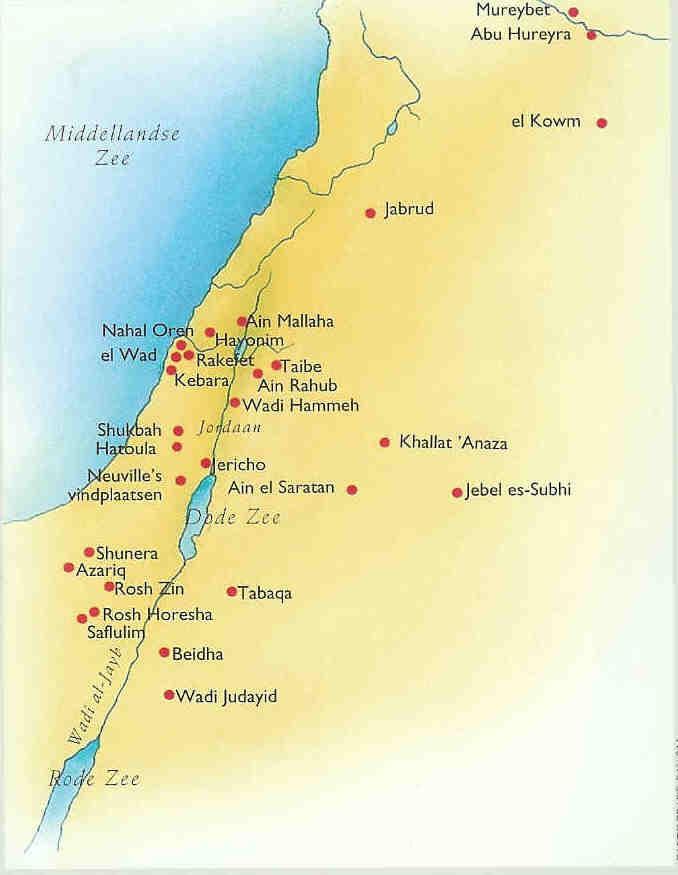 Natufische periode 12500-10.500.