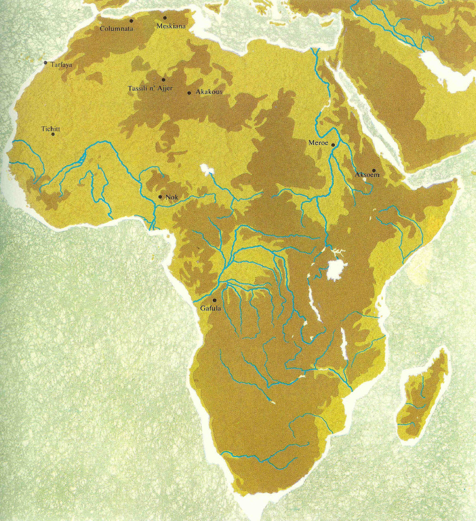 Groene kaart Afrika.