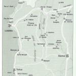 Kaart moderne Syrië (met Ras Shamra of het antieke Oegariet).