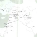 Kaart neolitisch Syrië.