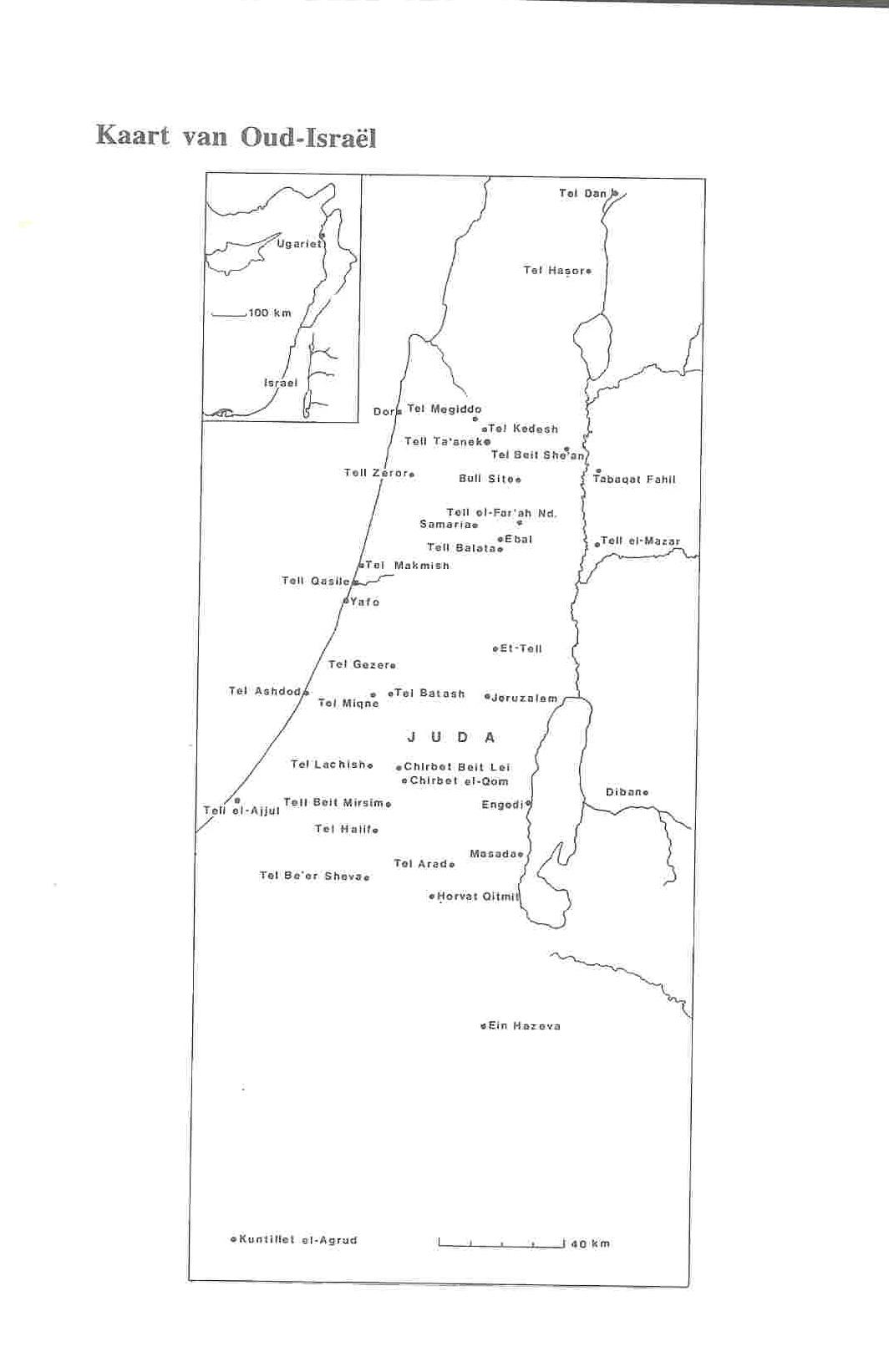 Kaart Oud-Israël.