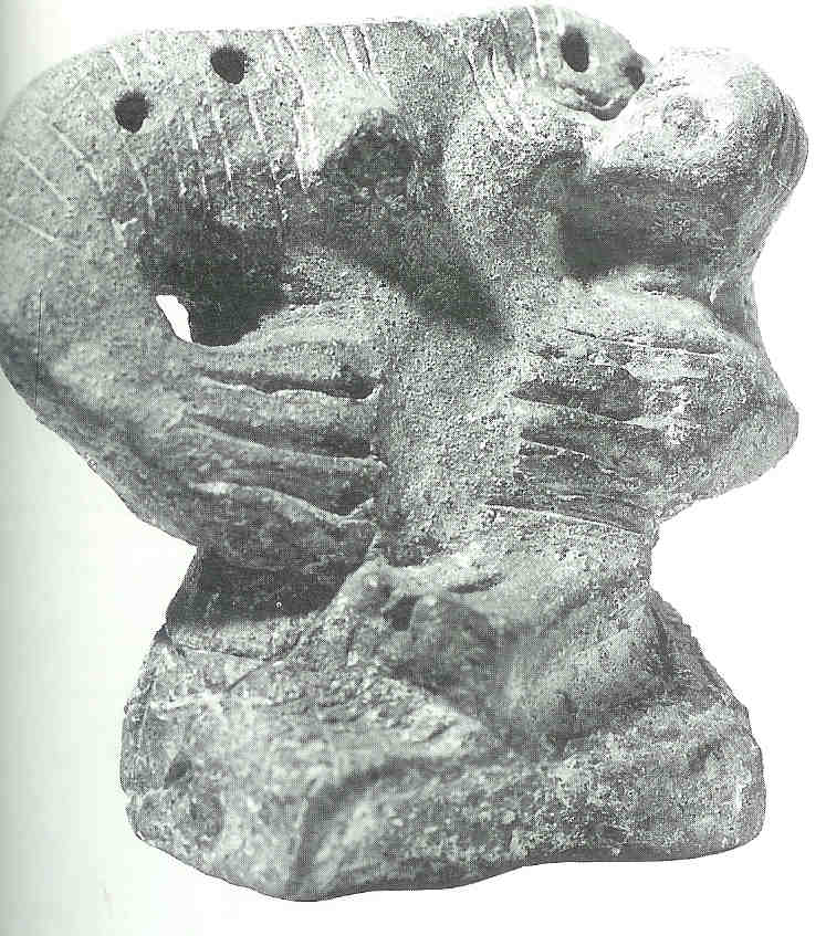'Madonna van Gradac'. Moeder met kind. Vinca. 5000 v Chr.