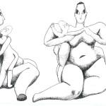 Zittende Vrouwe spelend met kind. Schets, van Venus tot Madonna, 123.