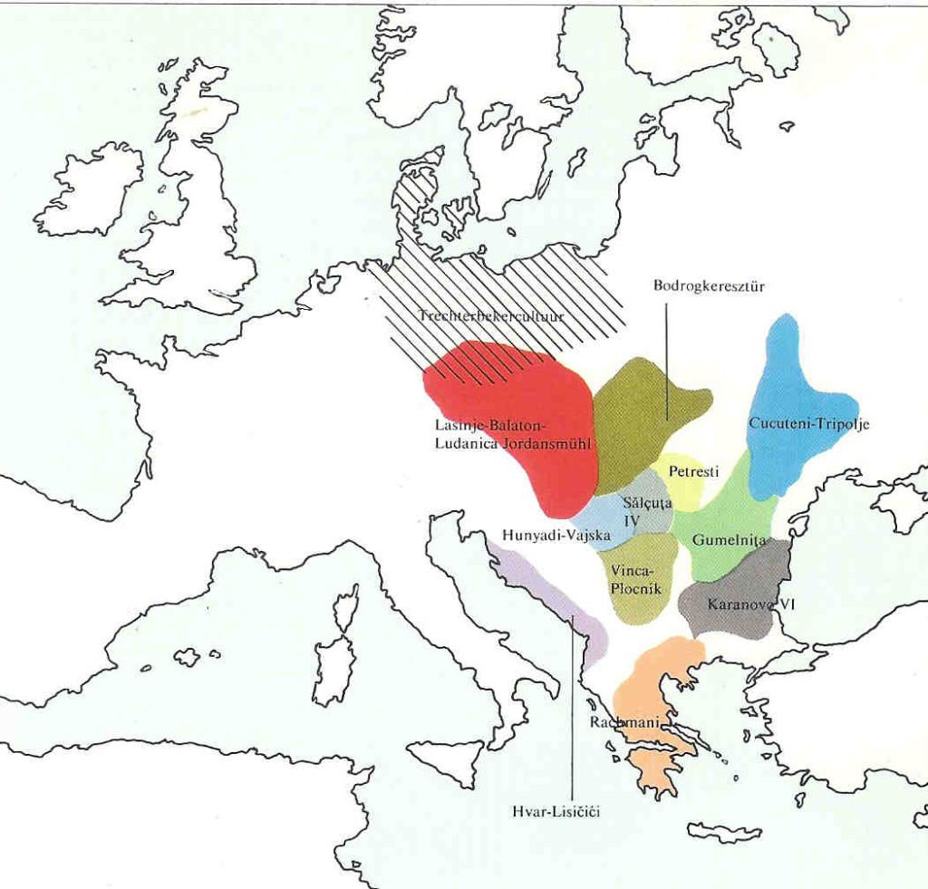 Culturen in het Oude Europa tussen 4500-3000 v. Chr.