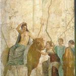 Stier Zeus ontvoert koningsdochter Europa.  Wij hebben het vaderland bereikt, van Venus tot Madonna, 310. Het schaken van vrouwen (wat een vaderlandse uitdrukking) wordt populair, van Venus tot Madonna, 29, 310, 342 en 405.