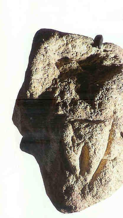 Vulva's. Les Eyzies-de-Tayac.  28.000 v. Chr. Met daarom heen dieren.