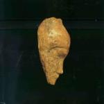 'Vrouwenhoofd'. Mammoet-ivoor. Uit Dolni Vestonice. 25.000 v. Chr. (linkerkant).