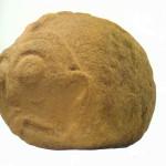 Danubius. Beeldhouwwerk van 53 kg. Rechts van 'De Eerste Moeder' uit 6000-5500 v. Chr.