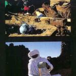 Toearegvrouw. Zij is ongsluierd. Ajjers in Algerije. De mannen gaan gesluierd.