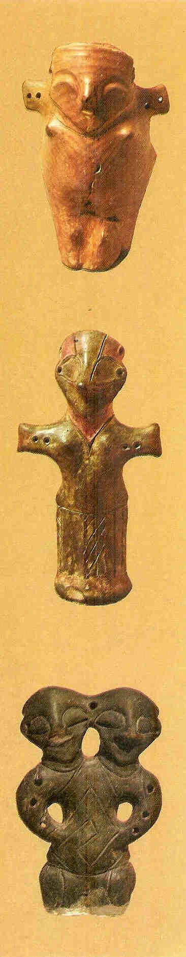 Godinnen met vogelgezicht. Vinca. 5000 v. Chr.