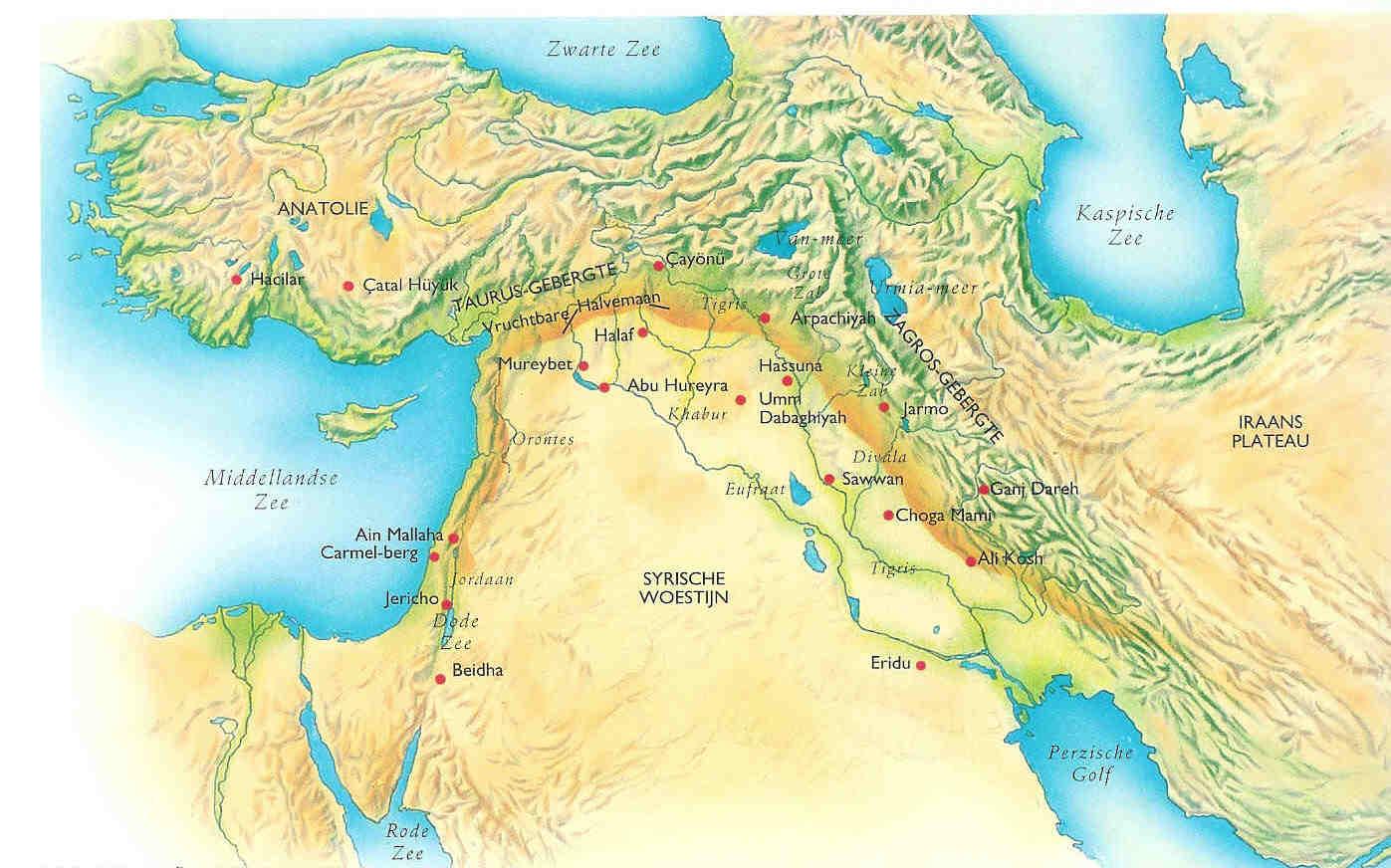Kaart Klein-Azië 9000-3000.