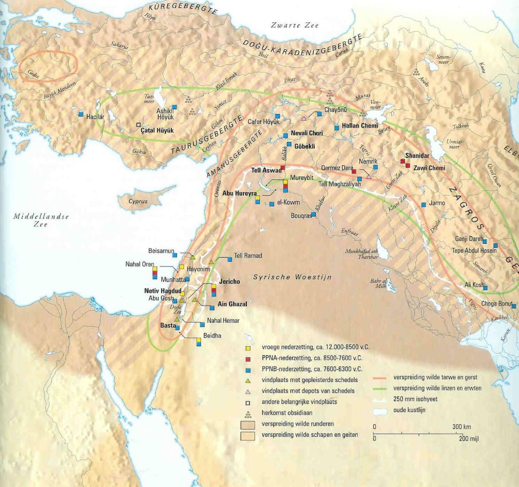 Kleurenkaart Midden-Oosten.