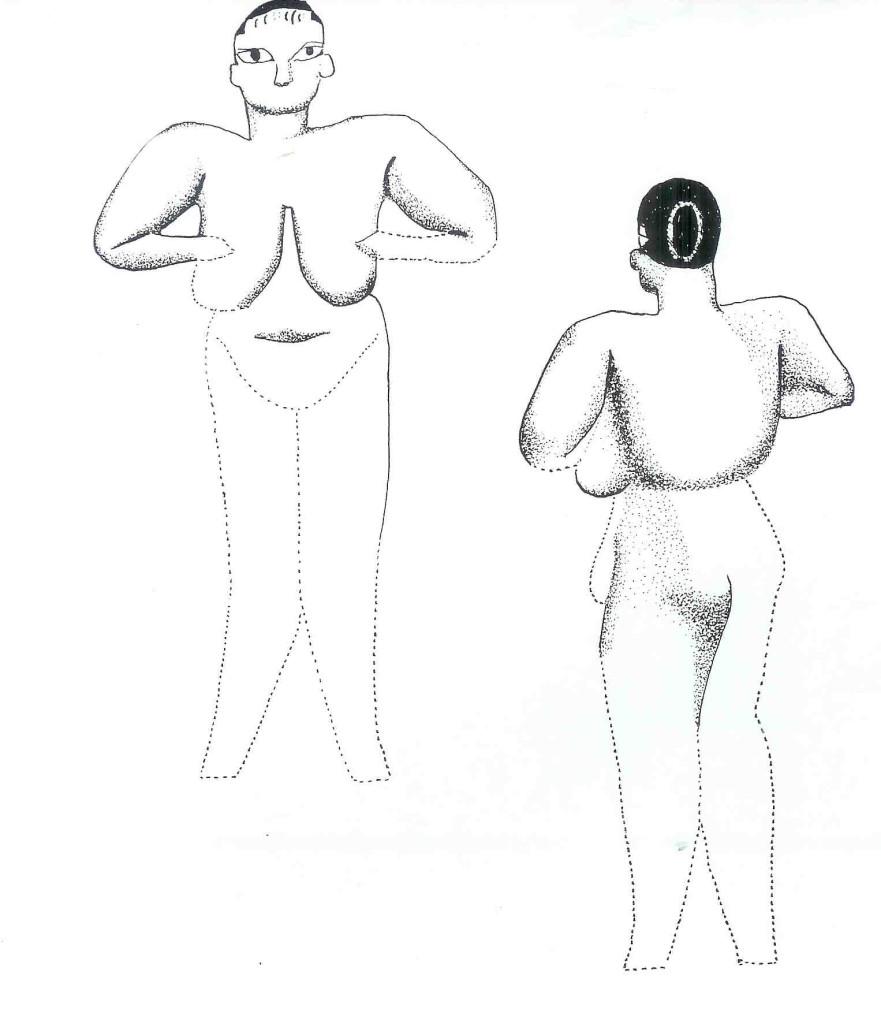 Schets van de Venus van Hacilar. Van Venus tot Madonna, 123.