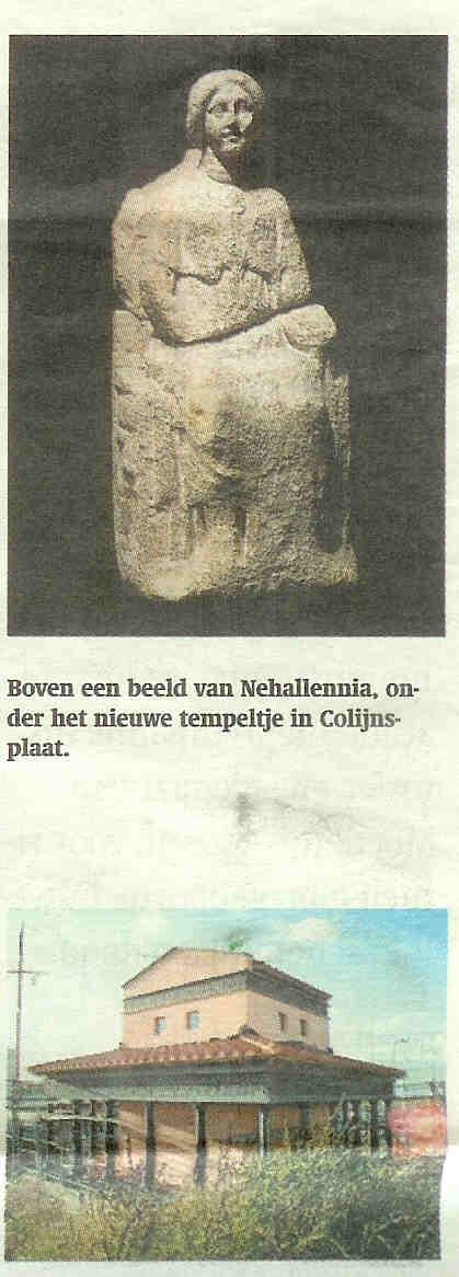 Nehalennia krijgt nieuwe tempel bij Colijnsplaat in Zeeland.